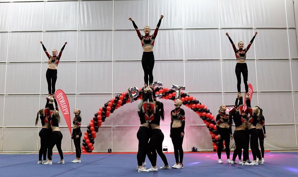 Pyrintö harrastus cheerleading Flash