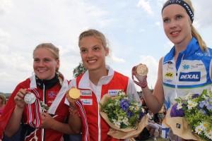 Heidi Mårtensson NOR, Simona Aebersold SUI, Karoliina Ukskoski FIN