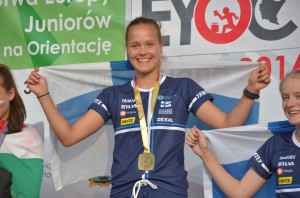 Lotta Eerola EM-kultaa D16 pitkä matka. Kuva Severi Eerola