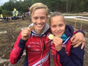 Tupla-tuplamestarit Mikko ja Lotta Eerola.