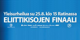 Eliittikisat su 25.8. Tampereella
